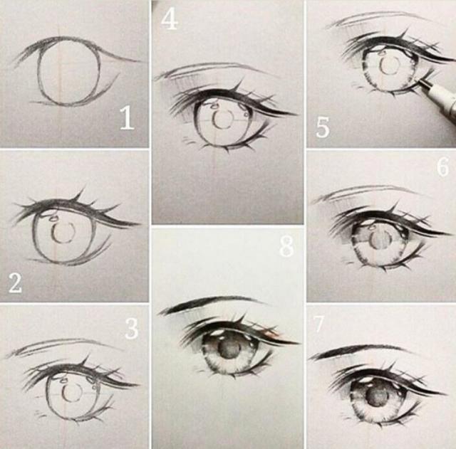 乾貨!手繪動漫眼睛的繪畫教程|教你get不同風格眼睛的畫法 - 每日頭條