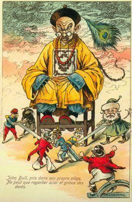 帝國主義列強瓜分中國的漫畫 - 每日頭條