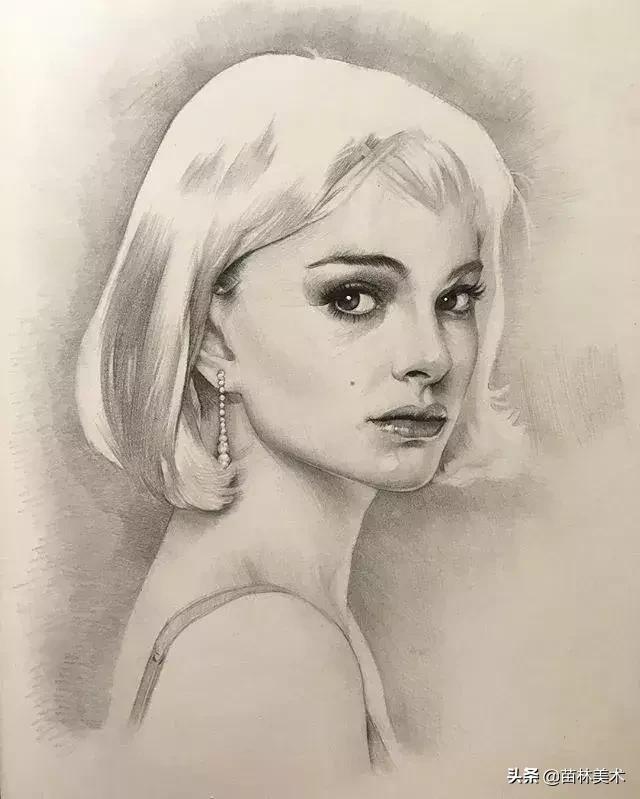 自學素描肖像,精緻的美得讓人移不開眼 - 每日頭條
