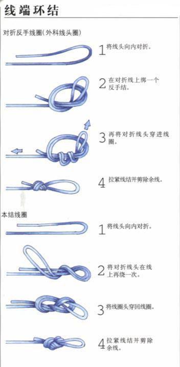圖解。6種魚鉤和魚線的綁法 - 每日頭條