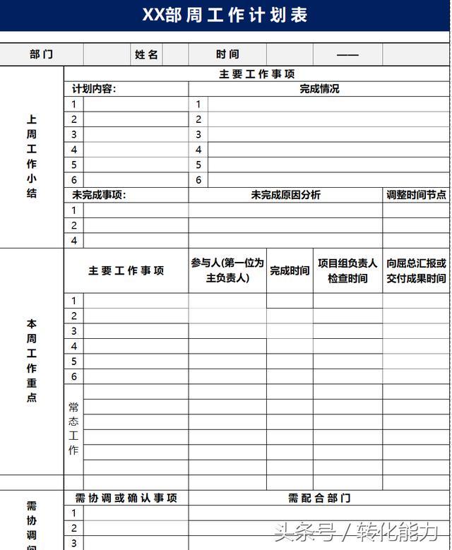 中小企業日常管理工具-EXCEL表格模板下載(日報周報月報等8套 - 每日頭條