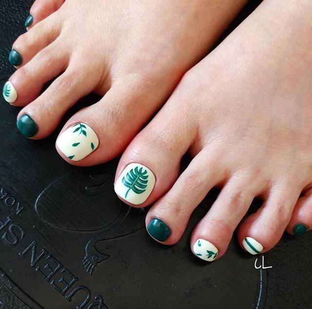 夏日最新時尚好看腳指美甲系列 腳趾也要美美噠 - 每日頭條