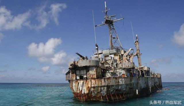菲律賓軍艦賴在仁愛礁上多年不撤,如今那條破船還沒爛完嗎? - 每日頭條