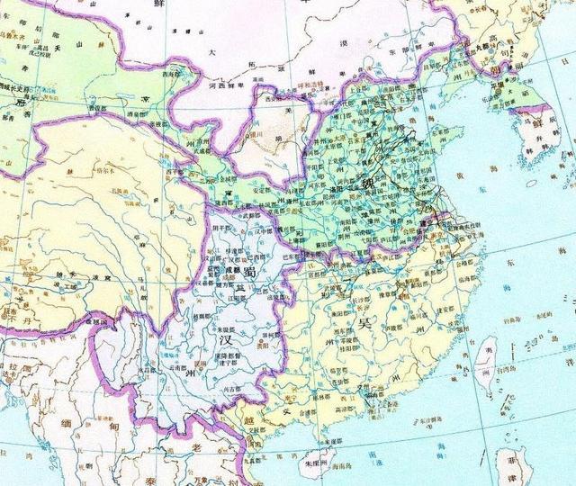 三國時期詳細地圖(含古今對照) - 每日頭條