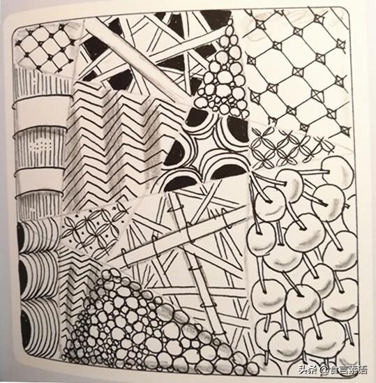 簡單幾筆就能畫出立體效果的纏繞畫紋樣一:新月 - 每日頭條