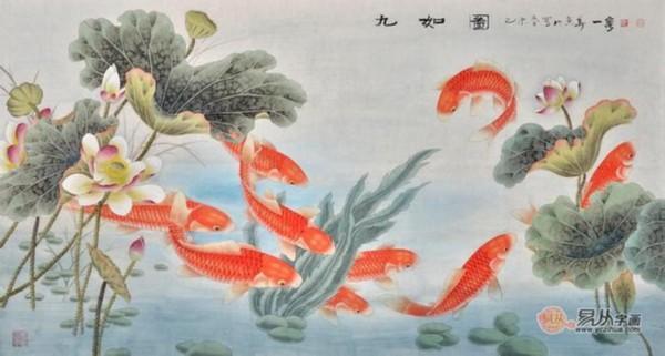 九魚圖 九魚圖作品欣賞 - 每日頭條