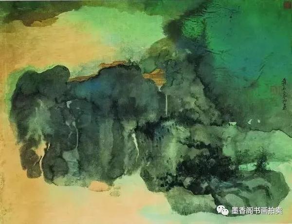 張大千以其晚年獨創的潑彩技藝,卓立於現代中國畫壇 - 每日頭條