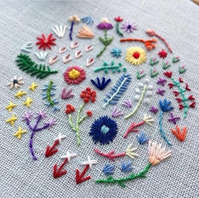 手工:60款刺繡+線稿。針法和圖樣都是簡單的。新手快收藏練習吧 - 每日頭條