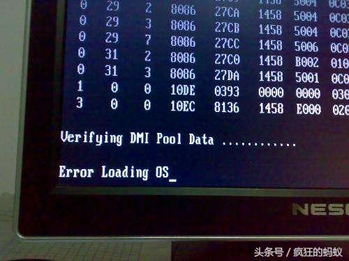 win7系統開機顯示英文error loading os解決方法 - 每日頭條