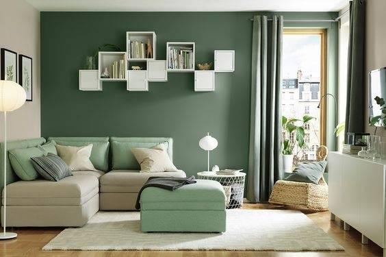 室內設計圖集‖綠色系牆壁 - 每日頭條