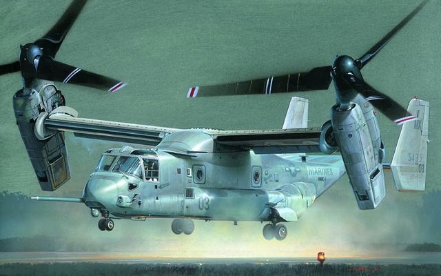 墜機出名的V-22「魚鷹」直升機,其實並不簡單 - 每日頭條