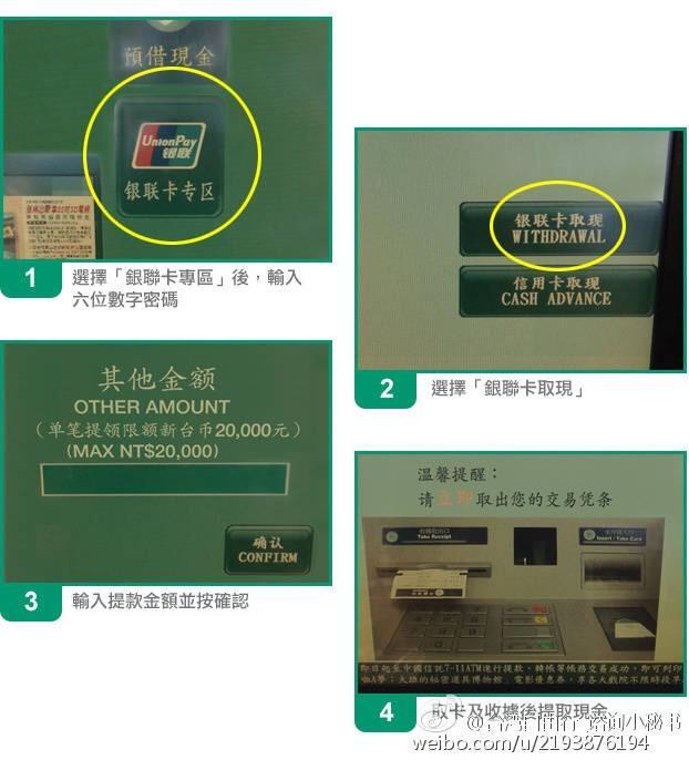 用銀聯卡在臺灣的ATM上取錢,一次最多能取多少? - 每日頭條