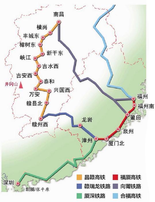 昌贛高鐵接入國家高鐵網絡 廈門到井岡山4小時可達 - 每日頭條
