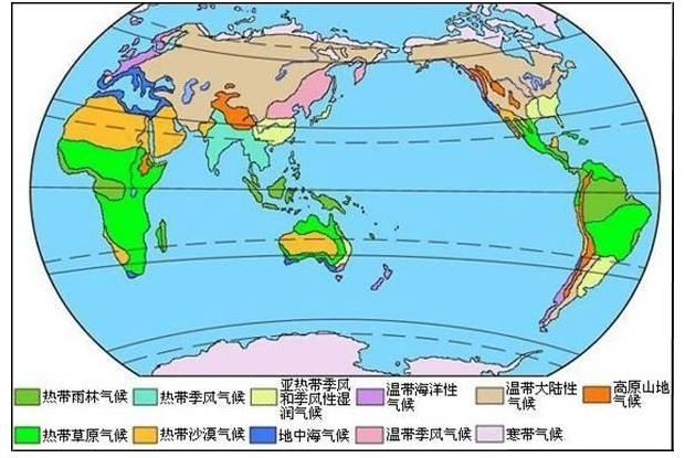 特別提醒的非地帶性氣候類型的分布 - 每日頭條