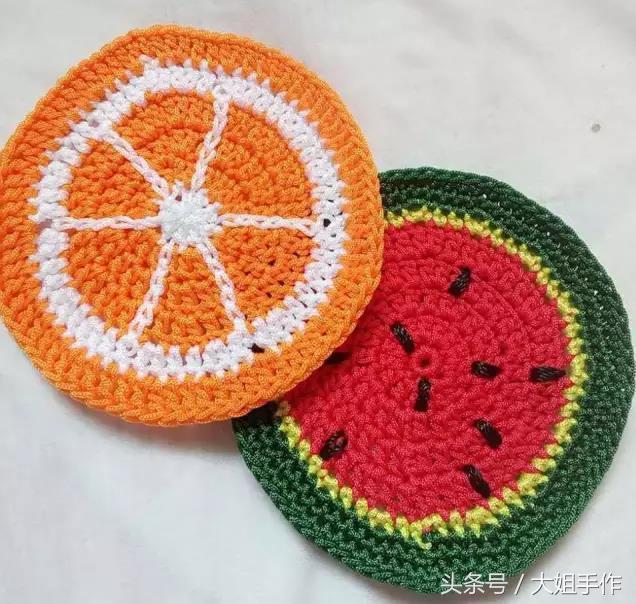 幾分鐘就學會的鉤針編織實用杯墊隔熱墊 手工編織(8) - 每日頭條