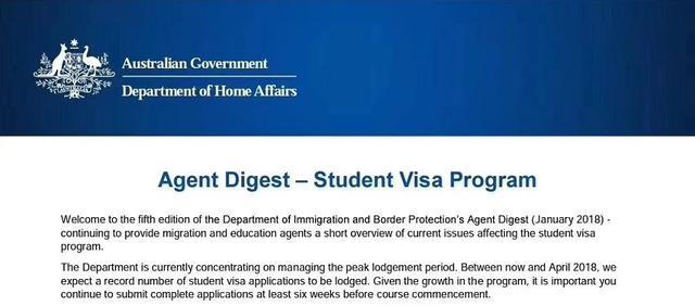 最新消息:澳洲移民局關於學生簽證發布最新通知 - 每日頭條