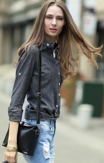 黑色襯衫搭配這條褲子讓你氣質UP - 每日頭條
