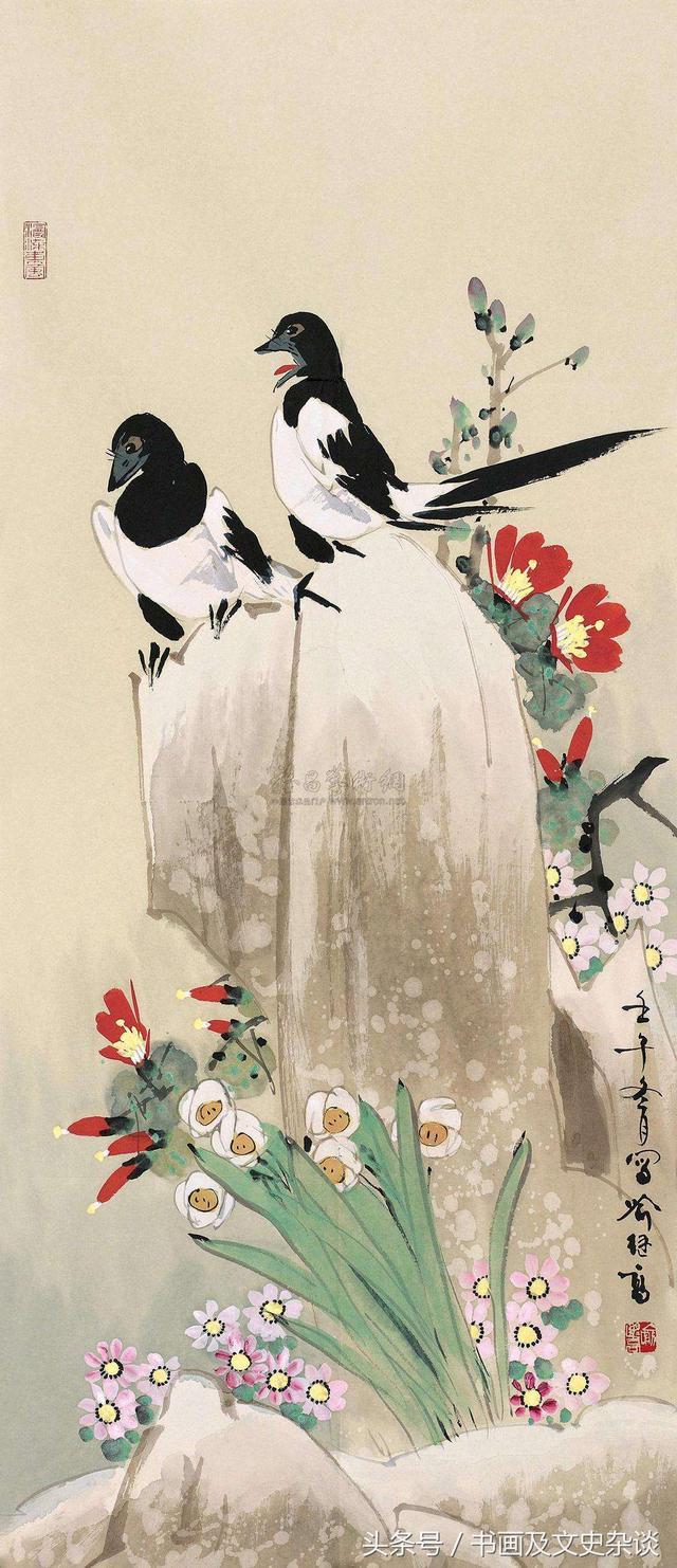 此鳥名字帶喜深受人們喜愛——國畫喜鵲作品選 - 每日頭條