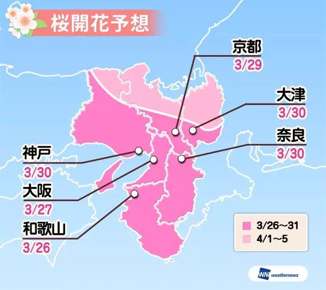2018日本櫻花開放時間正式公布! - 每日頭條