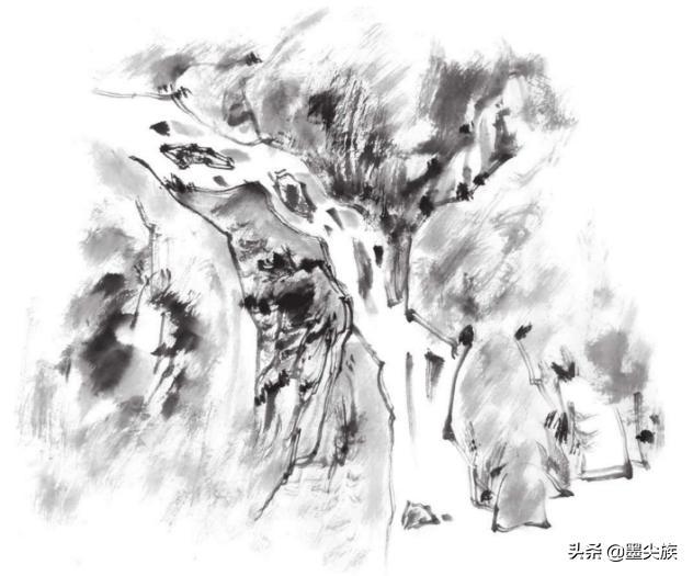山水畫中泉水、瀑布、湖水、海水的畫法 - 每日頭條