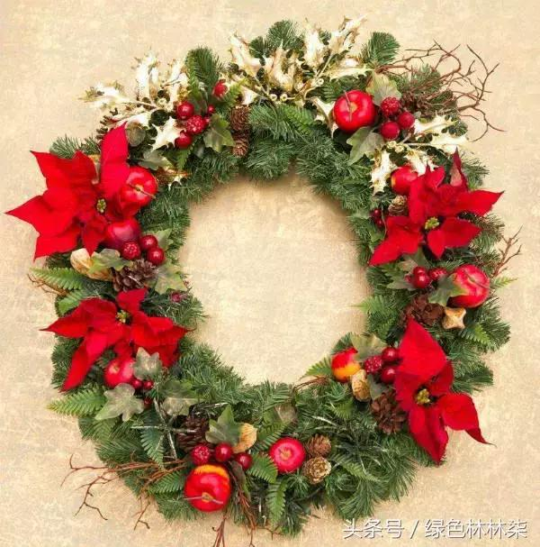 聖誕節和聖誕花環更配哦!聖誕花材大合集,教你製作美麗大花環! - 每日頭條