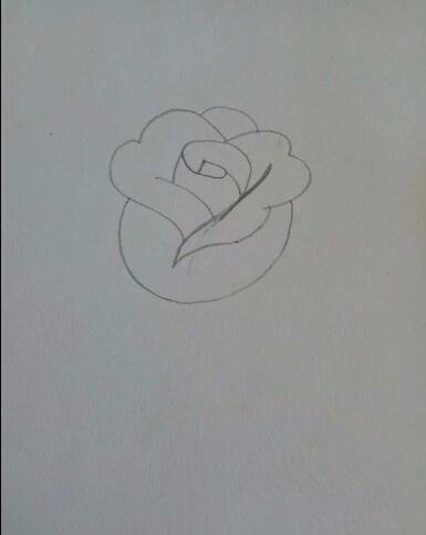 簡筆畫——玫瑰花的畫法 - 每日頭條