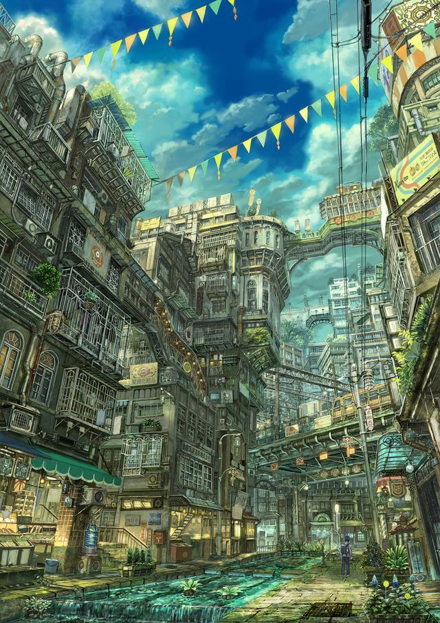 日本畫師「六七質」超精美場景繪畫!真佩服他耐心 - 每日頭條
