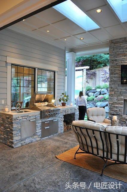 outdoor kitchen cost 4 piece stainless steel appliance package 户外厨房的设计 每日头条 户外厨房