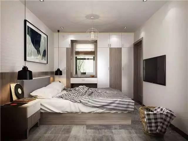北歐臥室裝修效果圖 簡約感臥室搭配裝修 - 每日頭條