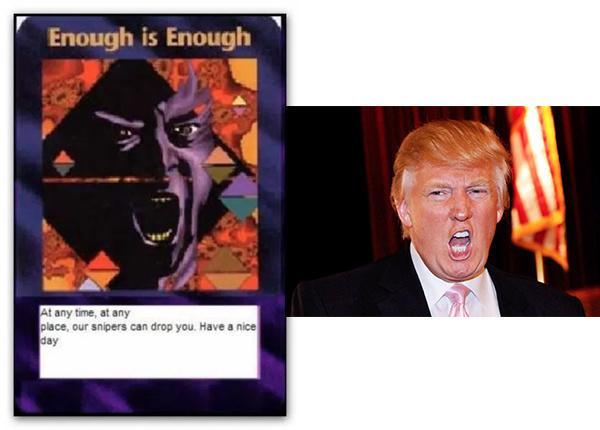 川普能否逃過這張卡牌上所預言的命運? - 每日頭條