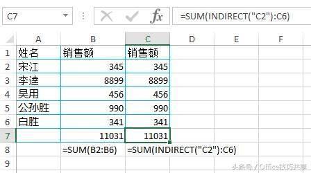 【職業技能】Excel中INDIRECT函數用法介紹 - 每日頭條