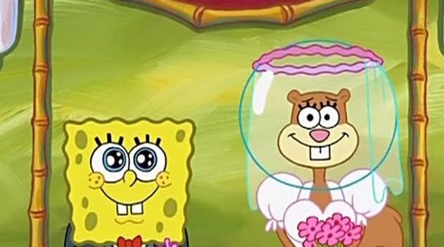 海綿寶寶居然和珊迪結婚了?親吻的一幕讓大家全走了 - 每日頭條