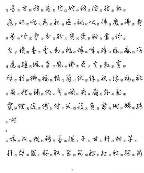 收藏|3500個常用漢字的草書寫法 - 每日頭條