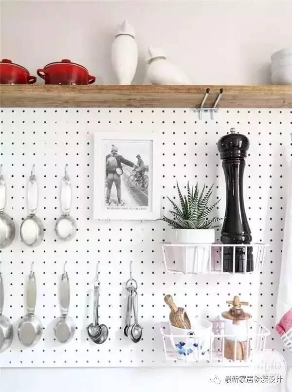 kitchen pegboard corner nook peg board简直了 家居收纳数第一 圈了一堆铁粉 每日头条 厨房pegboard