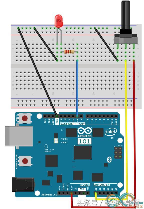 Arduino實驗之呼吸燈 - 每日頭條