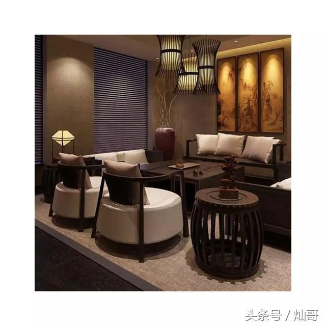 新中式沙發組合禪意布藝現代實木家具酒店會所茶樓養老院別墅定製 - 每日頭條