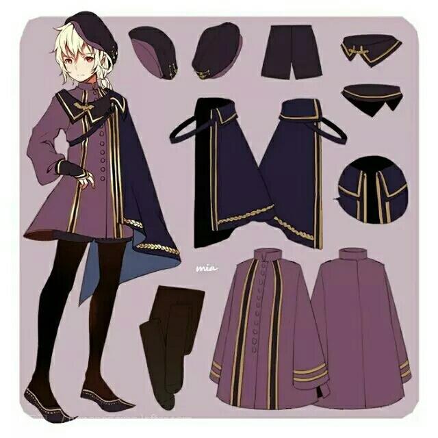 手繪動漫人物服裝設計及角色設定素材 - 每日頭條