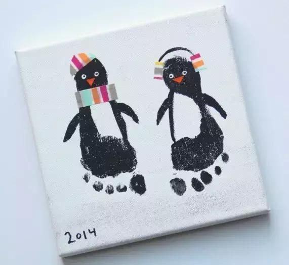 幼兒園美術塗鴉手工教程:有趣的掌印手印畫,孩子的第一支畫筆 - 每日頭條