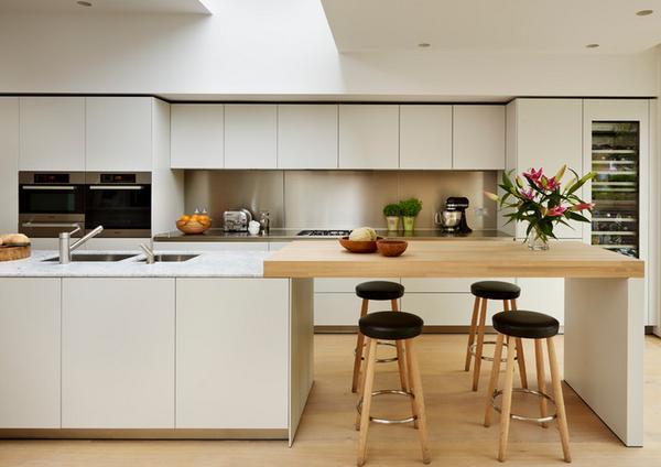 kitchen backslash small table for 被绝大多数人忽略的厨房后挡板 每日头条 1 不锈钢平整 可以进行弯折加工 非常容易贴合墙面
