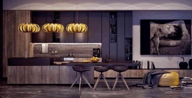 kitchen tops wood countertops orlando 澳都新创意36令人诱人的黑色厨房橱柜 让你为你的家居创造一帘幽梦 黑暗的厨房也在海滩工作 全海军内阁为黑色厨房顶部和木制方面提供了稳定的影响力 明亮繁忙的功能墙壁淹没了无聊