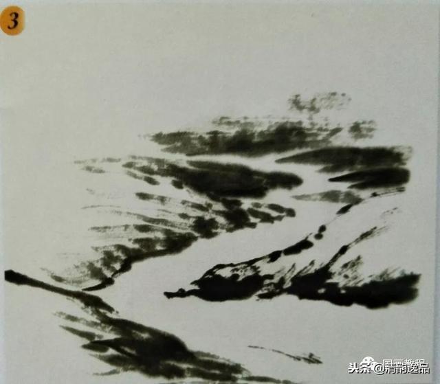 國畫山水基礎技法——雲、水、樹的畫法 - 每日頭條