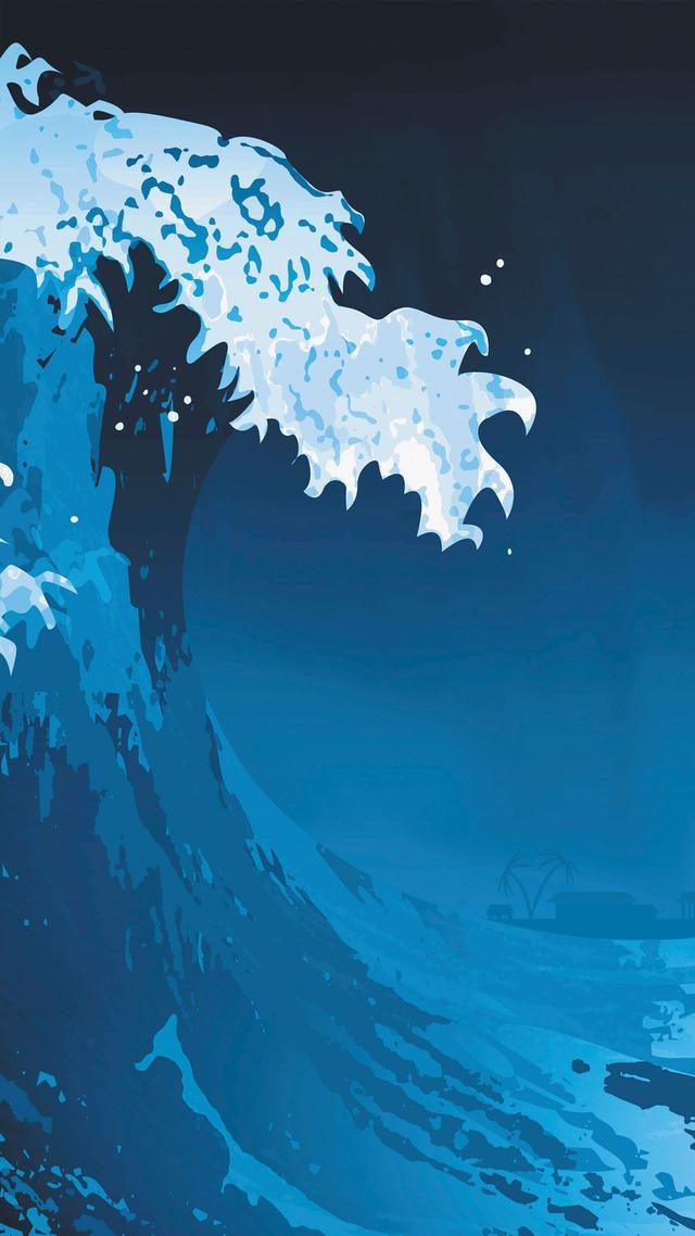 HD高清手機壁紙,藍色的大海,天光海色渾然相融,熠熠生輝 - 每日頭條