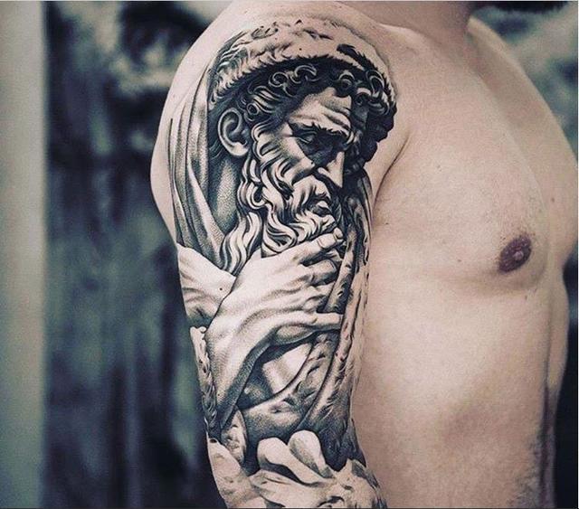 經典紋身:多款男性黑色手臂線條紋身點刺技巧半甲紋身圖案 - 每日頭條