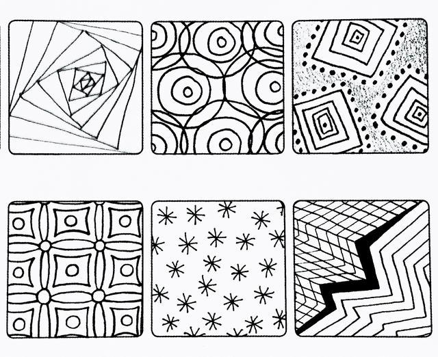 簡單就是終極的複雜——禪繞畫 基本圖樣(十四) - 每日頭條