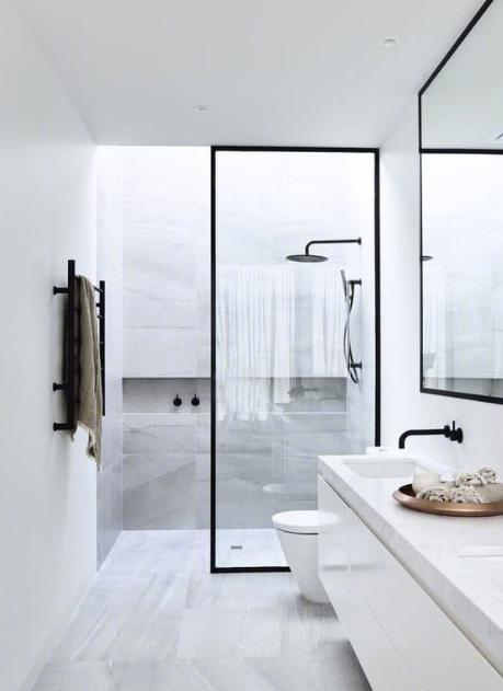 復古工業風的浴室設計,在北方 這種視覺 看著就能把人凍死 - 每日頭條