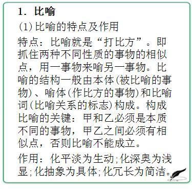 初中語文知識歸納:修辭手法。想要寫出好文章,修辭手法必須掌握 - 每日頭條