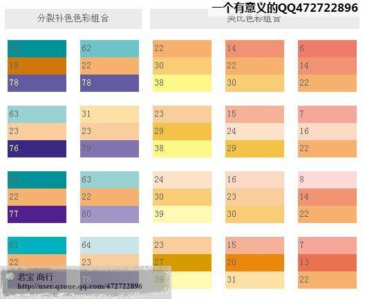 各種顏色調色表 (有些可以應用在著裝配色上) - 每日頭條