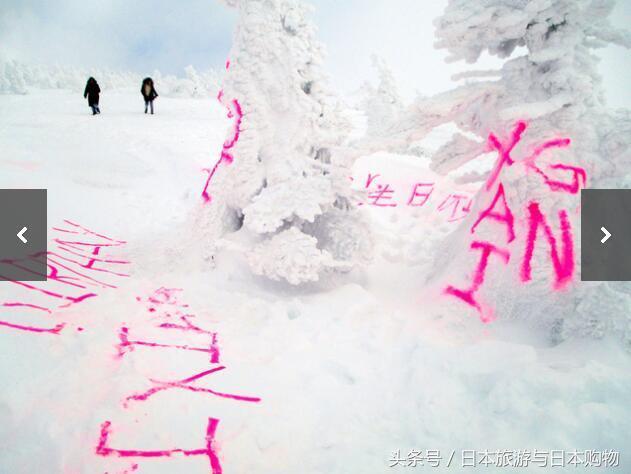 青森八甲田樹冰遭滑雪遊客中英文塗鴉 日本網民驚呼這是誰幹的! - 每日頭條