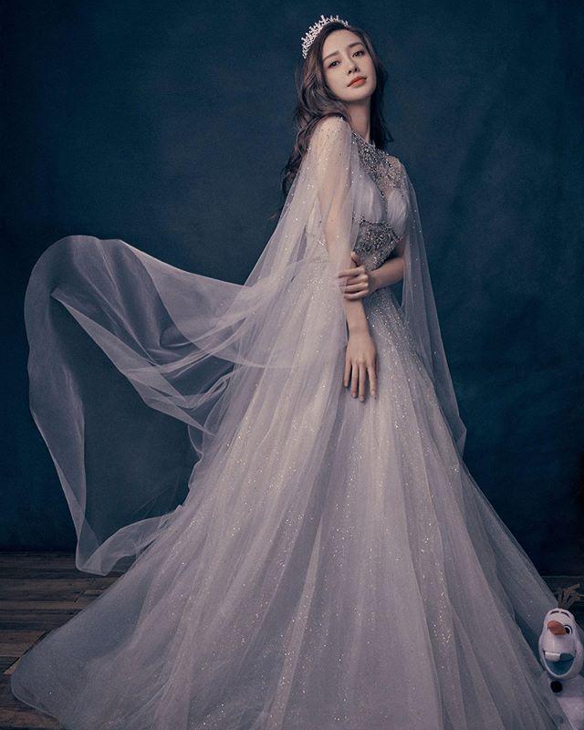 AngelaBaby穿過的仙女高定禮服。靈動溫柔人魚公主 - 每日頭條