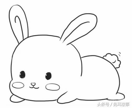 超可愛的小兔子簡筆畫。孩子的最愛 - 每日頭條